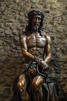 Jesus, Christ, Statue, Wood, Ancient, Religion, Faith
