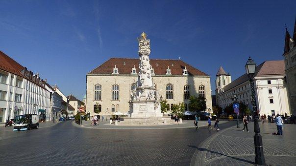 Budapest, Hungary, Column, Holy Trinity, Architecture