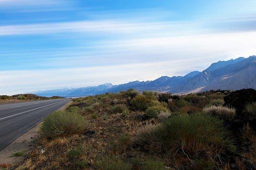 Valley, Death, Desert, Highway, Straight, Nevada, Usa