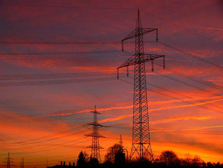 Energy, High-voltage Pylons, Strommast, Power Line