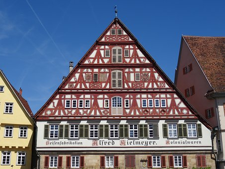 Esslingen, Old Town, Timber Framed Building, Facade