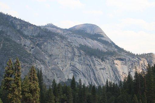Yosemite, Half, Dome, Mountain, Mountains