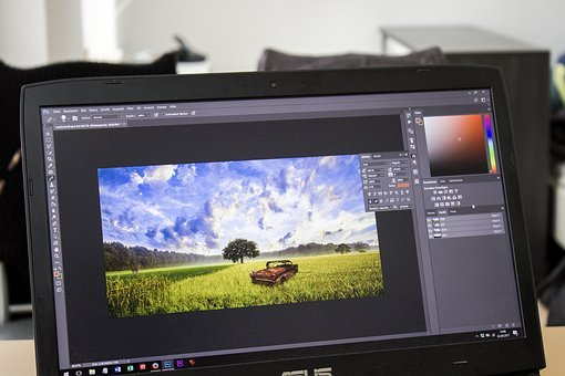 Image Editing, Photoshop, Image Editing Program, Laptop