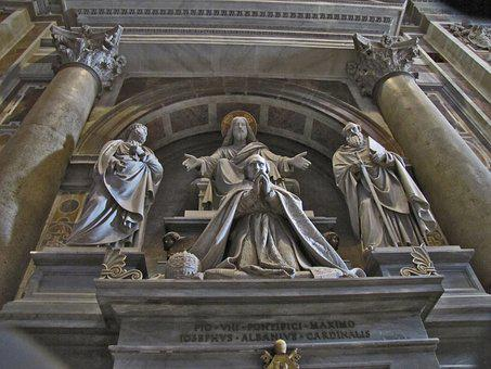 Rome, Saint Peter's Cathedral, Sculpture, Italy