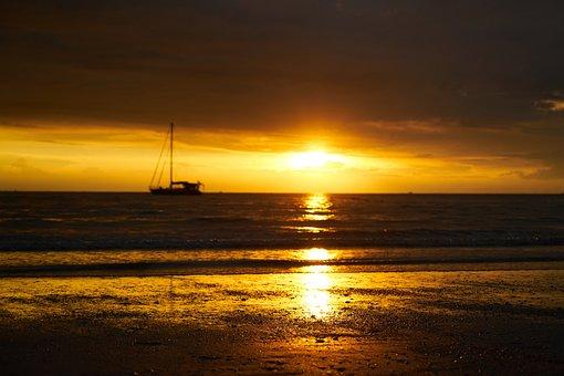 Solar, Beach, Light, Marine, Sunset, Landscape, Sky