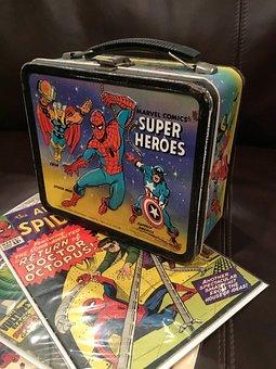 Lunchbox, Superhero, Spiderman, Comics, 1960, Rusty
