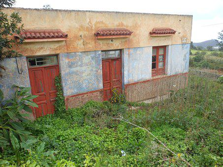 Abandoned House, Canary Islands, Building, Old