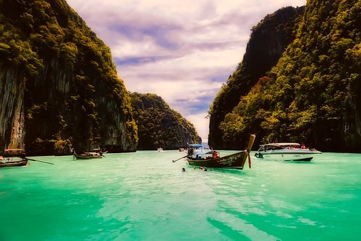 Thailand, Tropical, Boats, Fishing, Nature, Outdoors