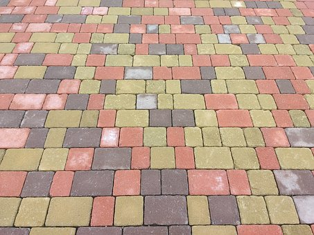 Patch, Concrete, Colorful, Ground, Pattern