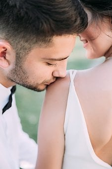 Portrait, Wedding, Kiss, Photoshoot, Just Married