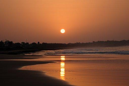 Sunrise, Sea, Shore, Water, Nature, Beach, Ocean