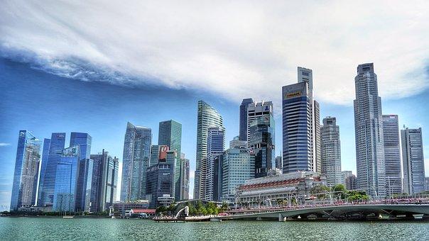 Singapore, Singapore River, Skyline, Building, Water