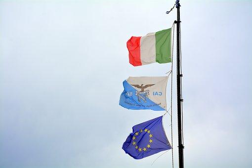 Flag, Summit, Italy, Europe, Alpine Club