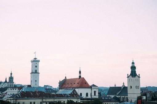 Lviv, View, Panorama, Terrassa, Top View, Height