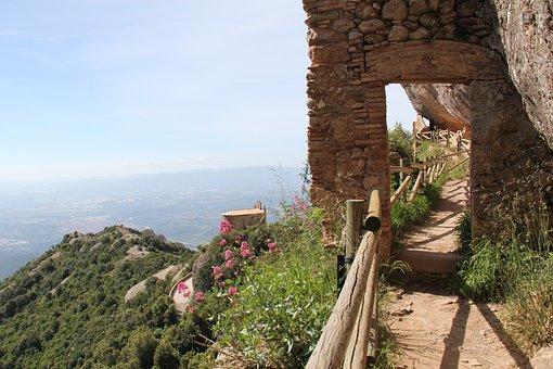 Montserrat, Walk, Mountain, Spain, Travel, Catalonia