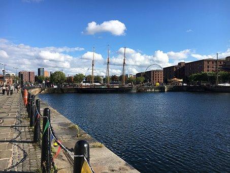 Liverpool, Albert Dock, Cityscape, Waterfront, Mersey
