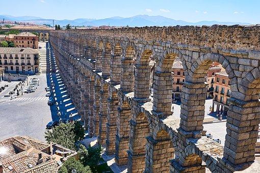 Spain, Segovia, Aqueduct, World Heritage