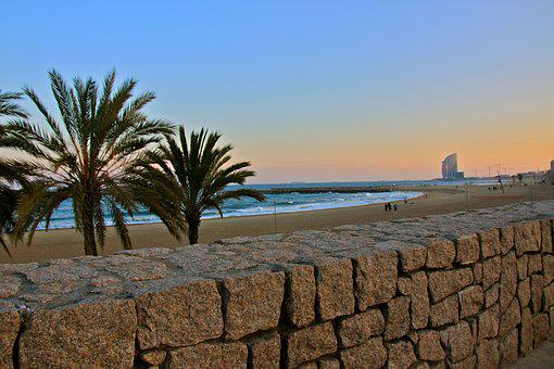 Beach, Barcelona, Spain, Travel, Mediterranean, Sea