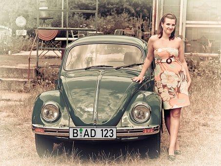 Volkswagen, Beetle, Vw, Classic, Oldtimer, Old, Auto