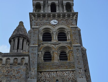 Church Tinteniac, Bell Tower, Wall, Brittany, Heritage