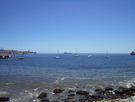 Ocean, Costa, Clouds, Sky, Beach, Port, Landscape