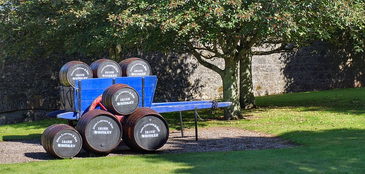 Whiskey, Barrels, Cart, Jameson, Distillery, Cork