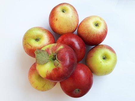 Fruit, Apples, Red, White, Eating, Nutrition, Vitamins