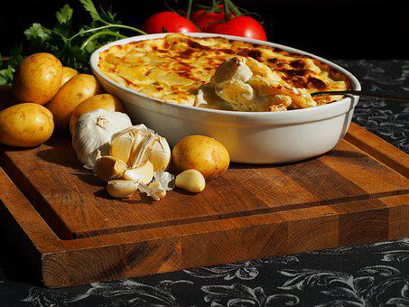 Flødekartofler, Au Gratin, Potatoes, Accessories, Food