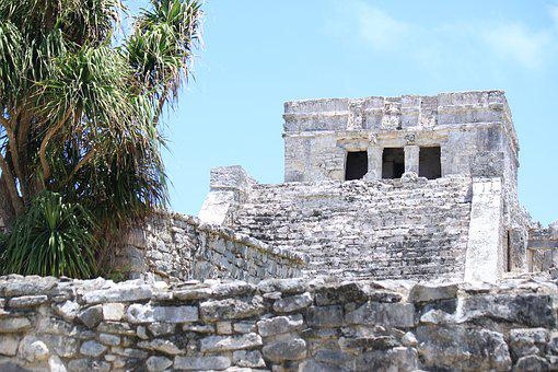 Ruins, Tulum, Maya, Mexico, Observatory, Castle