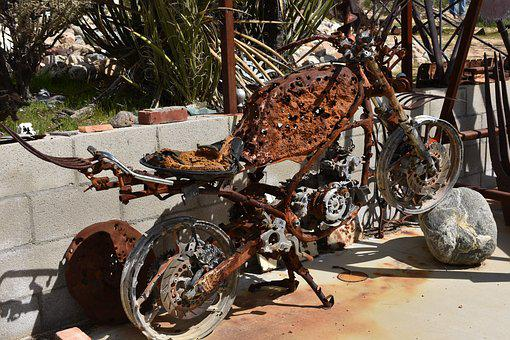 Rust, Old, Motorcycle, Rusted, Metal, Texture
