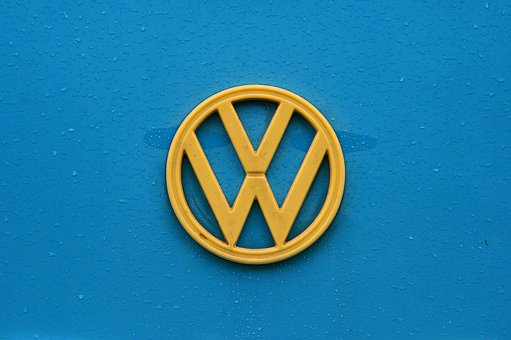 Blue, Vw, Van, Gold, Logo, Style, Old, Old Car, Classic