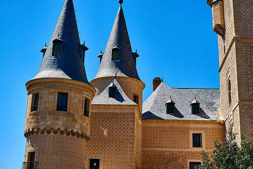 Spain, Segovia, Fortress, Castle, Wall, Tower
