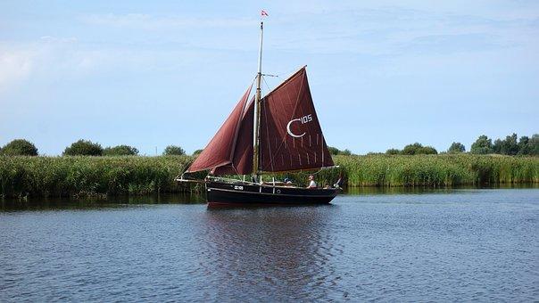 Sailing, Sailing Boat, Boat, Ship, Boating, Masts