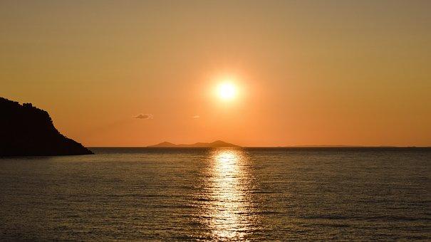 Sunrise, Sun, Sea, Horizon, Nature, Summer, Morning