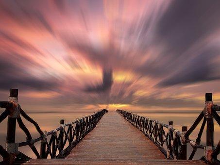 Sunset, Sea, Web, Abendstimmung, Sunset Sea, Clouds