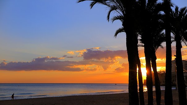Sunset, Evening Red, Sea View, Evening Sky, Twilight