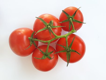 Vegetables, Tomatoes, Eating, Red, White, Vitamins
