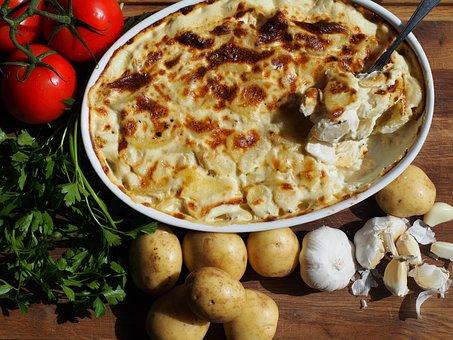Cream, Potatoes, Gratin, Accessories, Flødekartofler