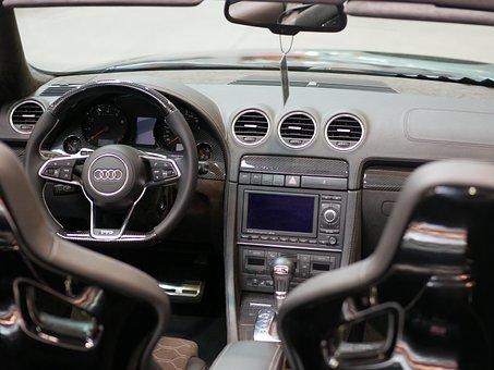 Auto, The Interior Of The Car, Audi, Steering Wheel