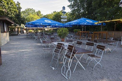 Beer Garden, Hofbräu, Bavaria, Bavarian, Dining Tables
