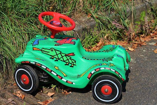 Toy Car, Colorful, Painted, Parked, Parked Up, Roadside