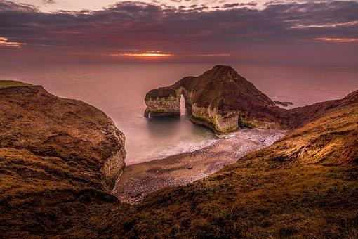 Seascape, Landscape, Sunrise, Sun Up, Dawn, Golden Hour