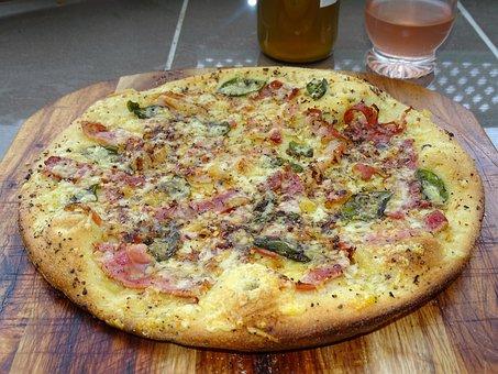Pizza, Gourmet, Pizza Bianca, Prosciutto, Speck, Italy