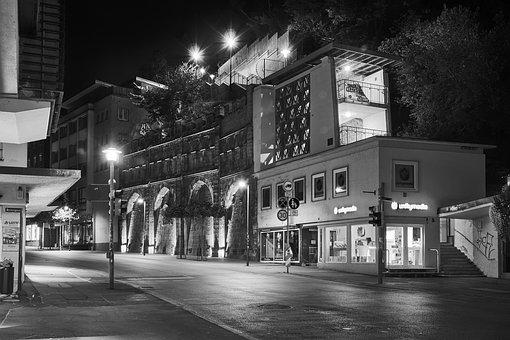 City, Black And White, Urban, Old Town, Downtown