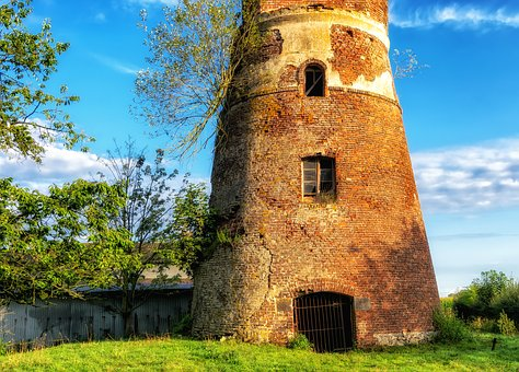Tower, Lost Place, Mill, Historically, Architecture