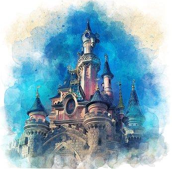 Disneyland, Castle, Paris, Tourism, Holiday, Childhood