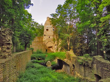 Monastery, Ruin, Remains Of A Wall, Decay, Abbey