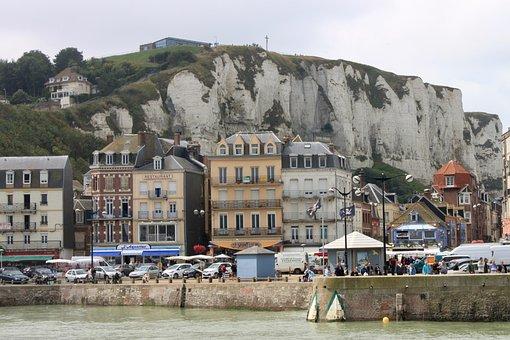 France, Normandy, Coast, Cliffs, Beach, Rock