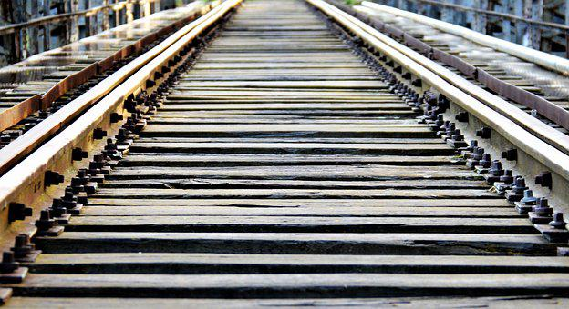 Pathways, Train, Via, Iron, Wood, Oxide, Rusty
