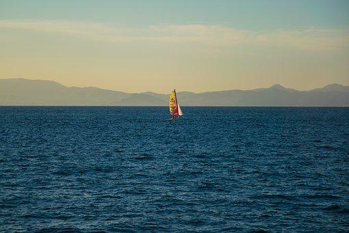 Formentera, Sea, Sailing Boat